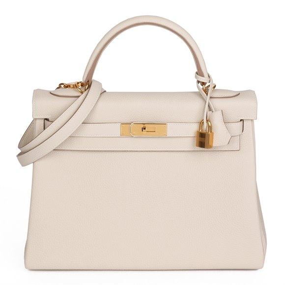 Hermès Craie Togo Leather Kelly 32cm Retourne
