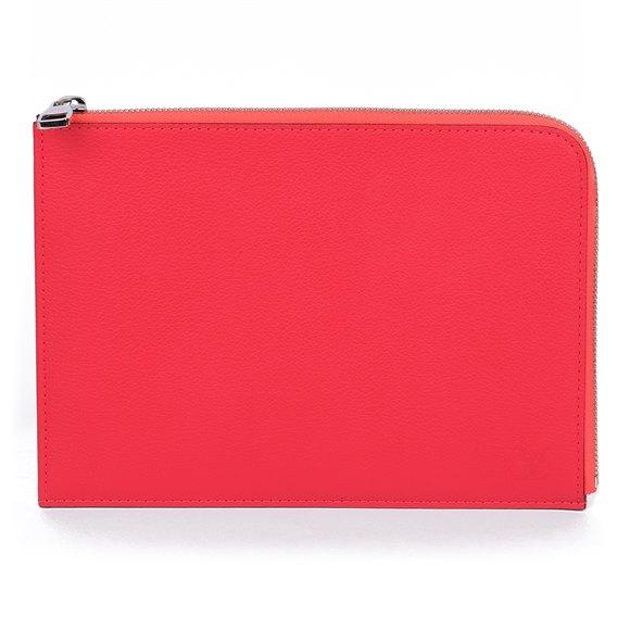 Louis Vuitton Poppy Calfskin Leather Pochette Jules PM