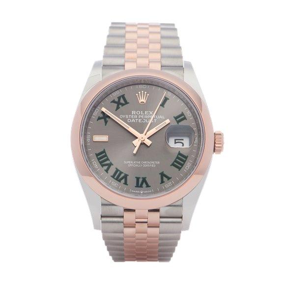 Rolex Datejust 36 Wimbledon Dial 18K Stainless Steel - 126201
