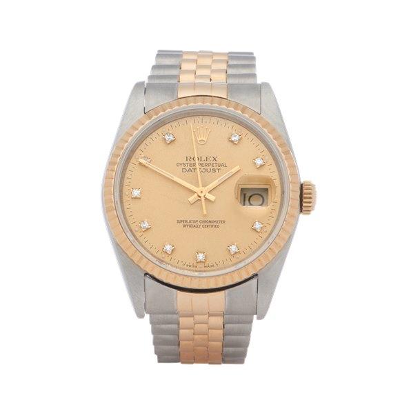 Rolex Datejust 36 Diamond 18K Yellow Gold & Stainless Steel - 16233