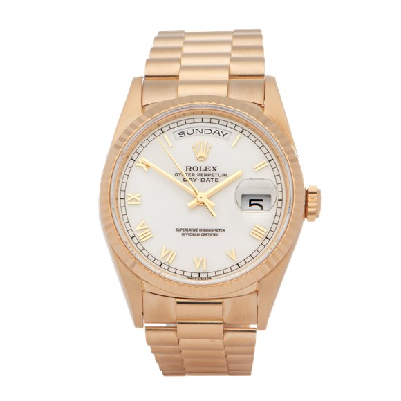 Rolex Day-Date 18K Yellow Gold - 18238