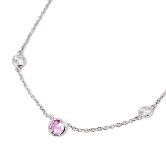 Tiffany & Co. Colours by the Yard Pink Sapphire and Diamond Necklace