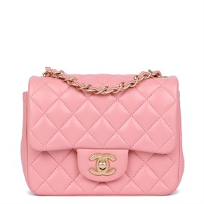 Chanel Pink Quilted Lambskin Leather Mini Flap Bag