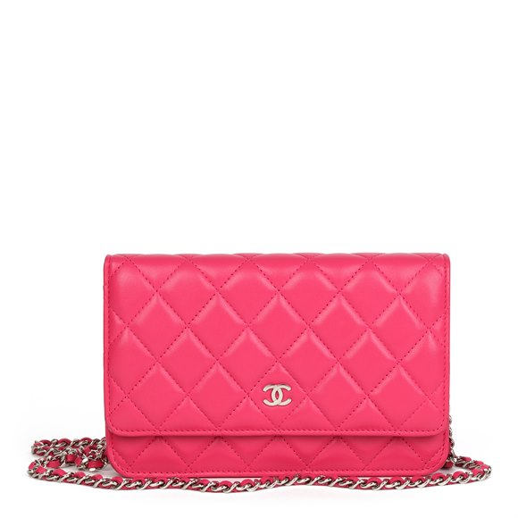 Chanel Pink Quilted Lambskin Wallet-on-Chain WOC