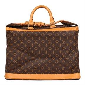 Louis Vuitton Brown Monogram Coated Canvas & Vachetta Leather Vintage Cruiser 45