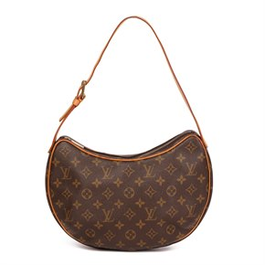 Louis Vuitton Brown Monogram Coated Canvas & Vachetta Leather Croissant MM