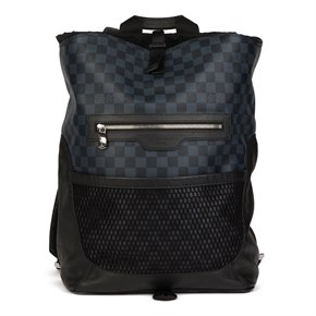 Louis Vuitton Damier Colbalt Coated Canvas & Black Nylon Matchpoint Backpack