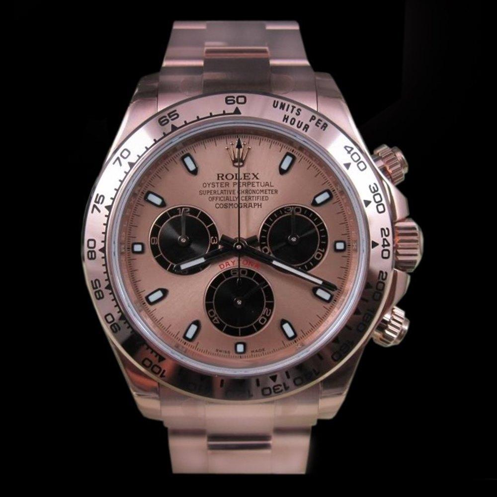 Rolex Daytona Cosmograph Chronograph 18k Rose Gold 116505