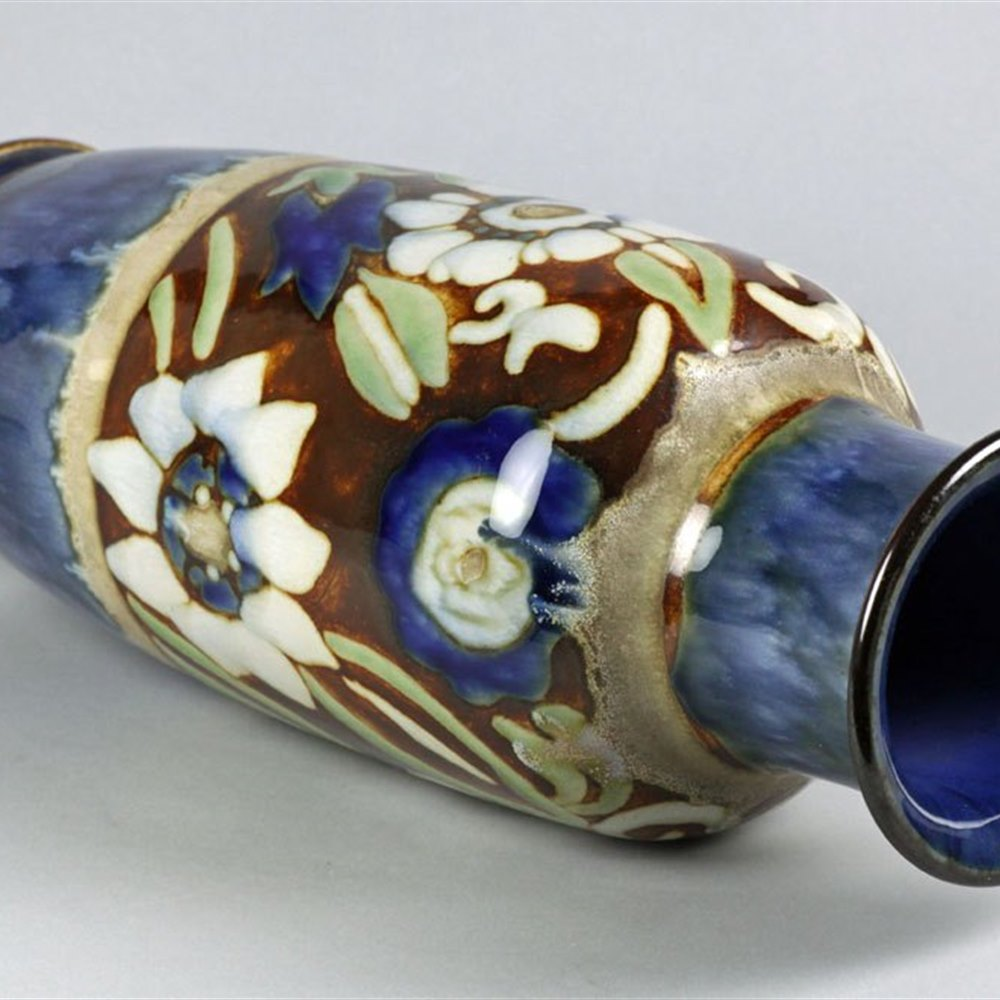 Superb Art Nouveau Doulton Lambeth Vase By Harry Simeon & Florrie Jones C.1902