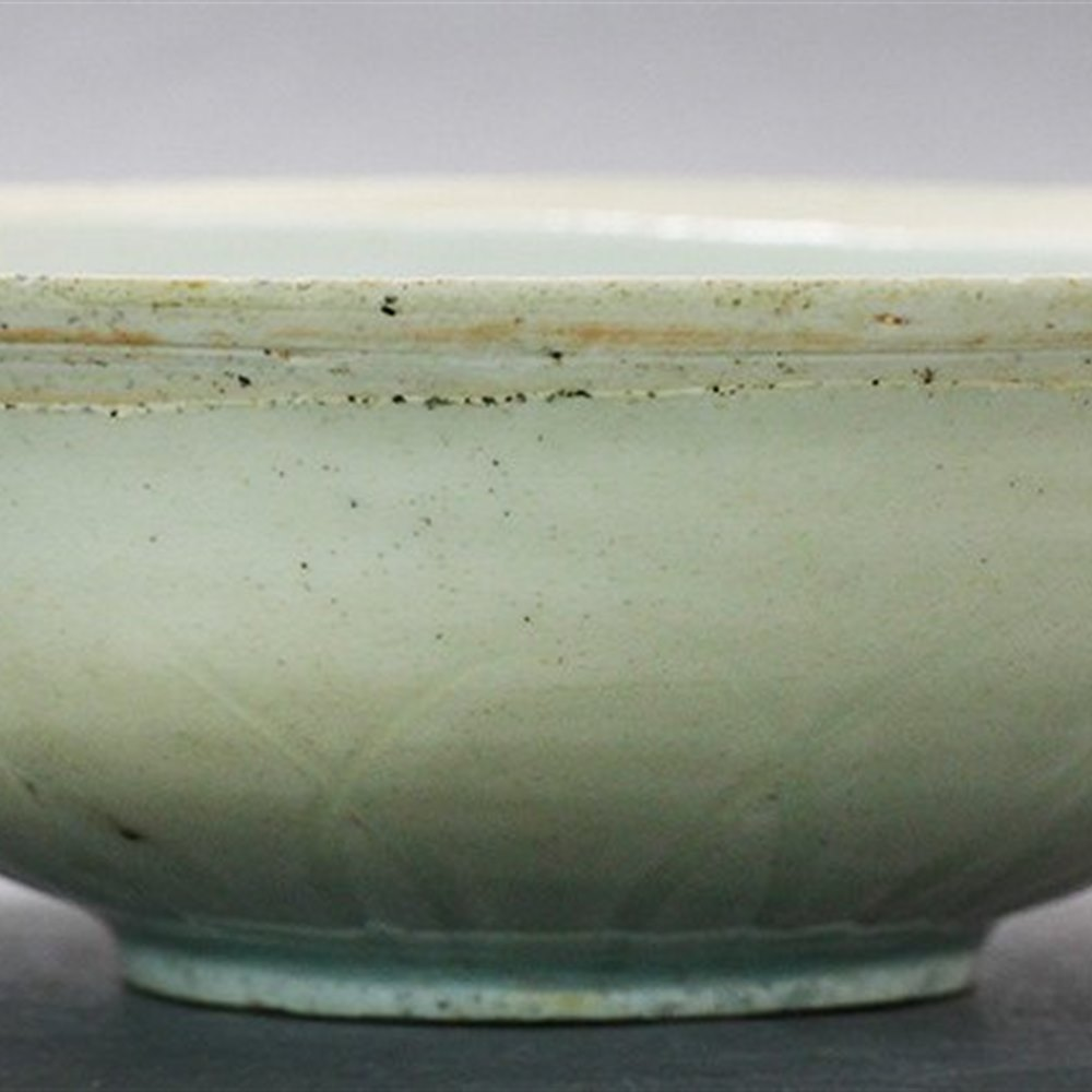 Stunning Antique Chinese Qingbai Ware Bowl With A Leaf Design Song 11th-12th C.