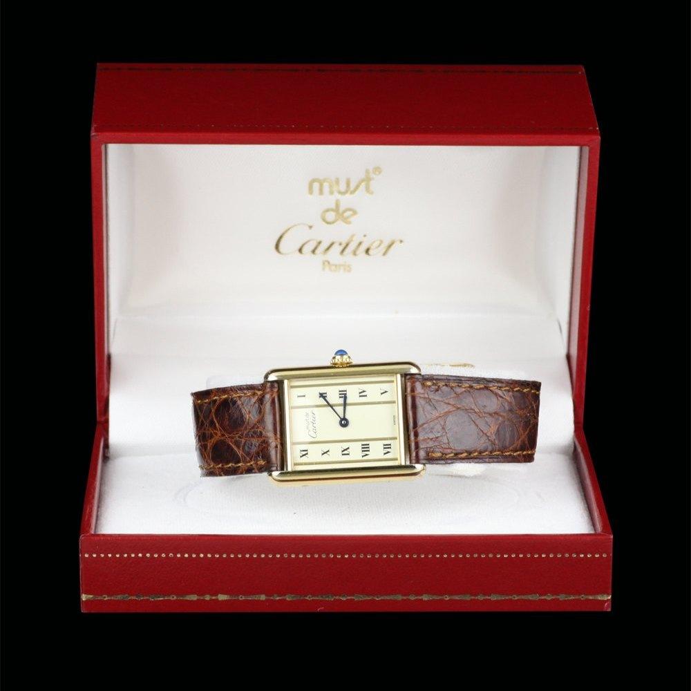 Cartier Must De Cartier 18k Yellow Gold Plated 925 Sterling Silver