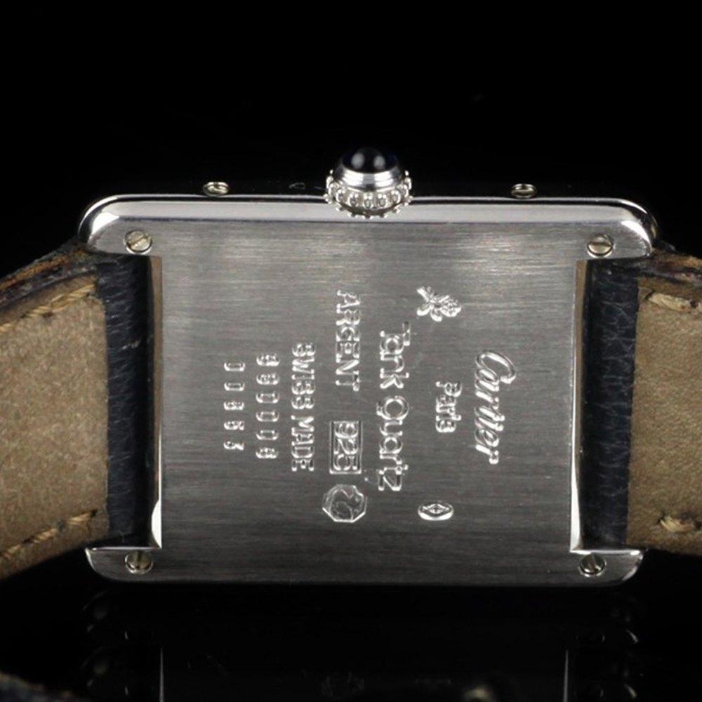 Cartier Must De Cartier 18k White Gold Plated 925 Sterling Silver