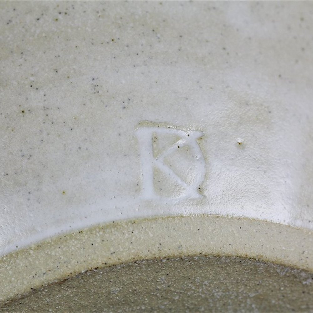 DOROTHY KEMP Superb Studio Pottery White Glazed Vase By Dorothy Kemp 20th C.