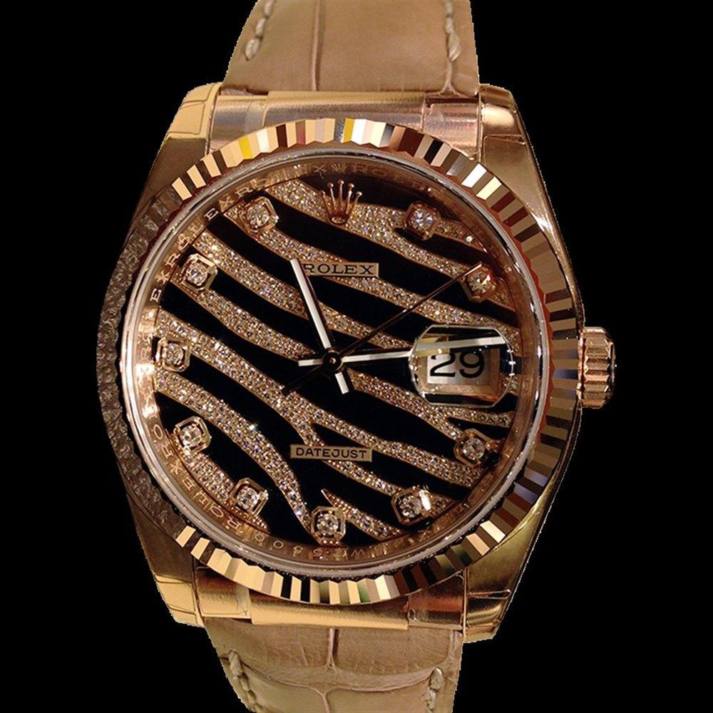 Rolex Datejust 18k Rose Gold 116135