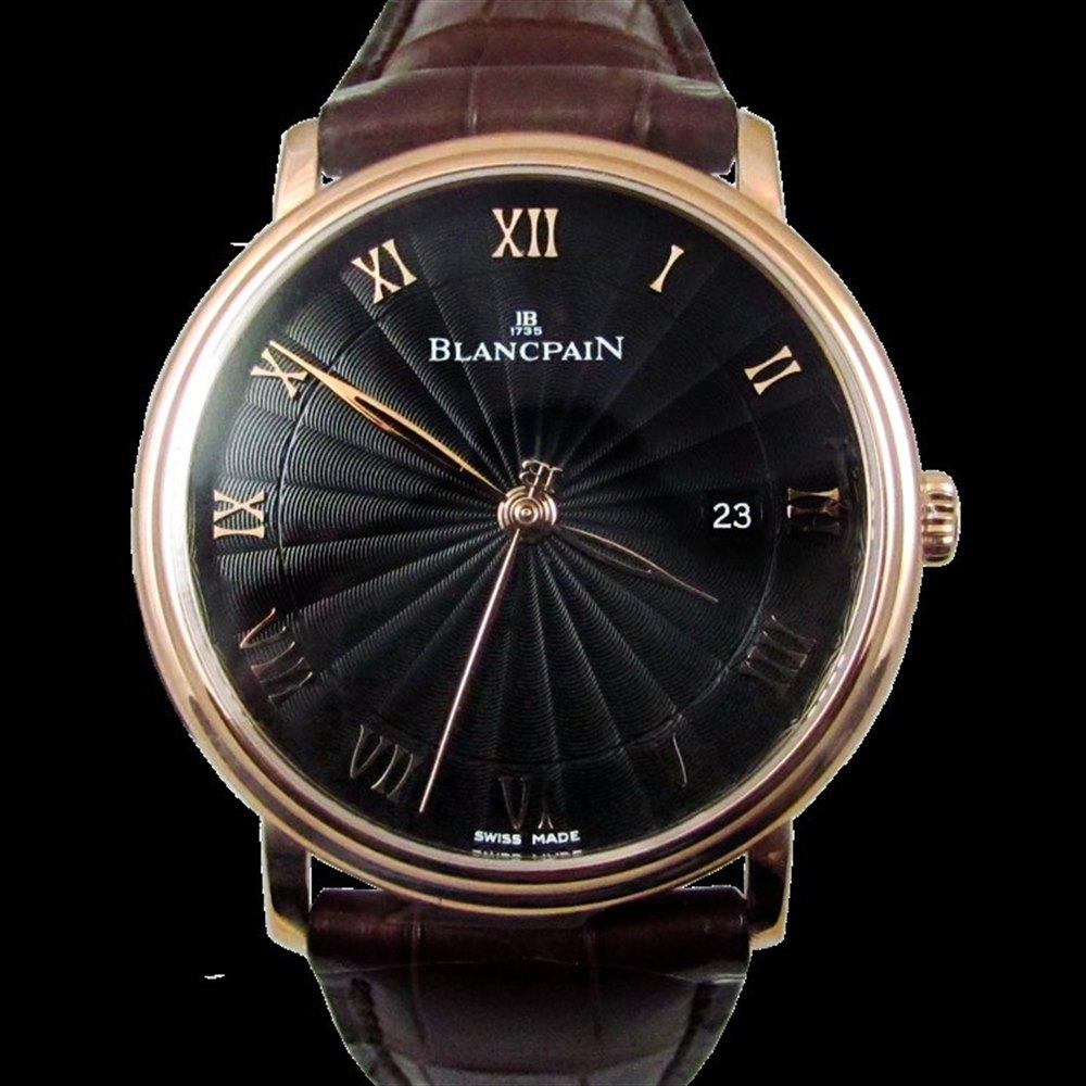 Blancpain Villeret 18k Rose Gold 6651-3630-55b