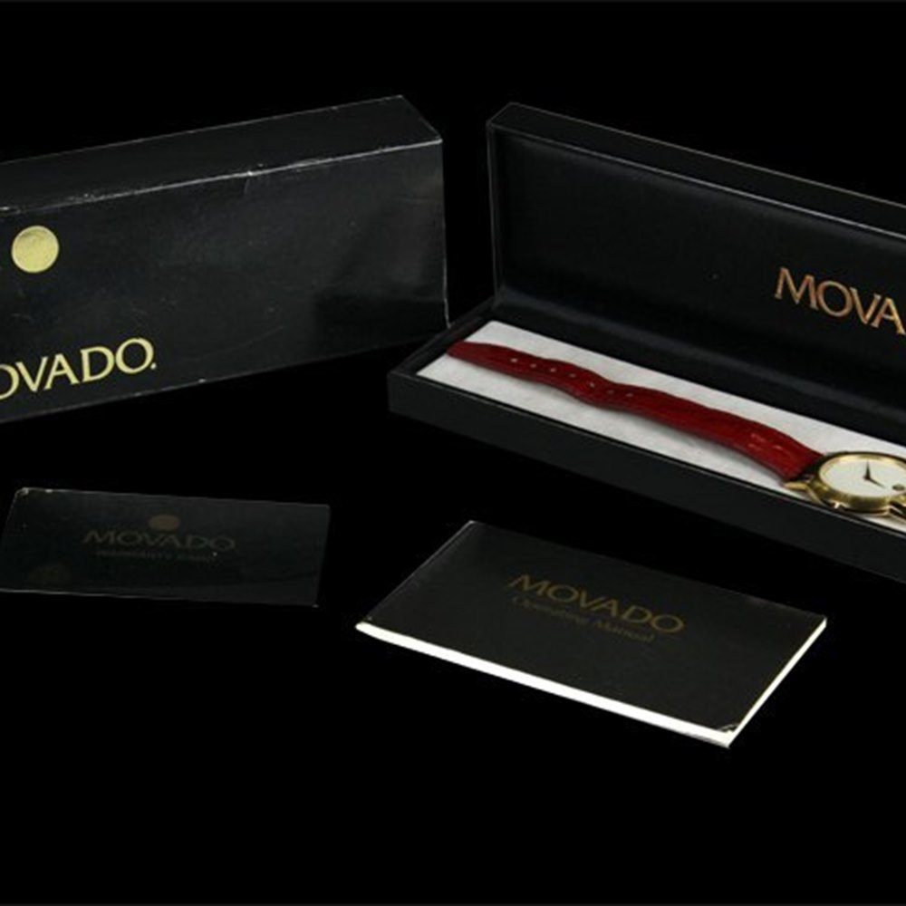 Movado Museum 18k Yellow Gold Plated Stainless Steel