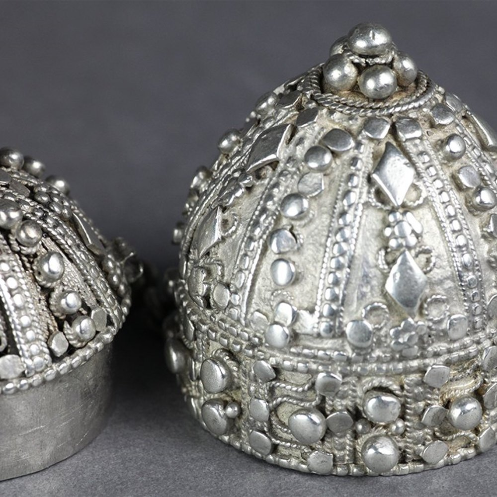 INDIAN SILVER POMANDER 19th Century