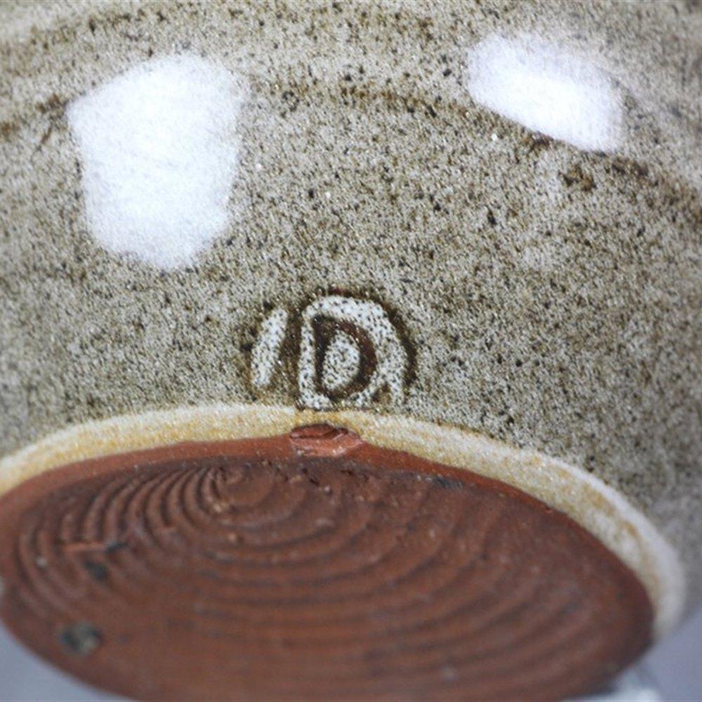 Superb Miniature Studio Pottery Vase Signed By David Leach 20th C.