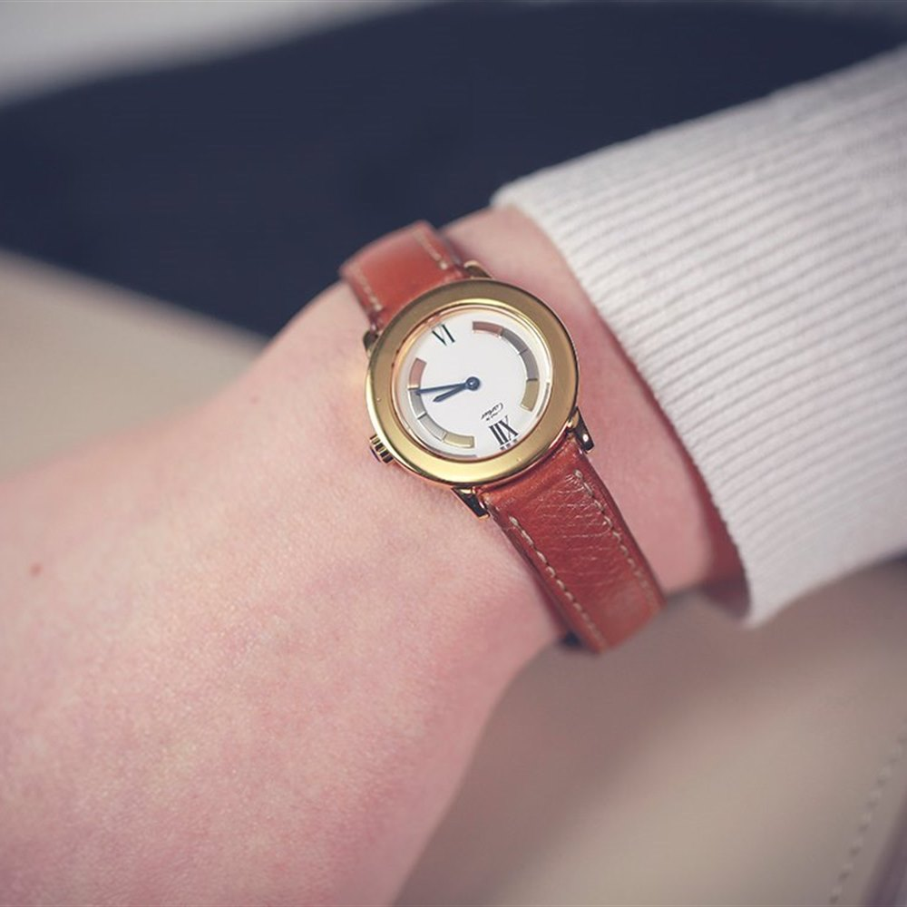 Cartier Must De Cartier Ronde 18k Yellow Gold Plated 925 Sterling Silver