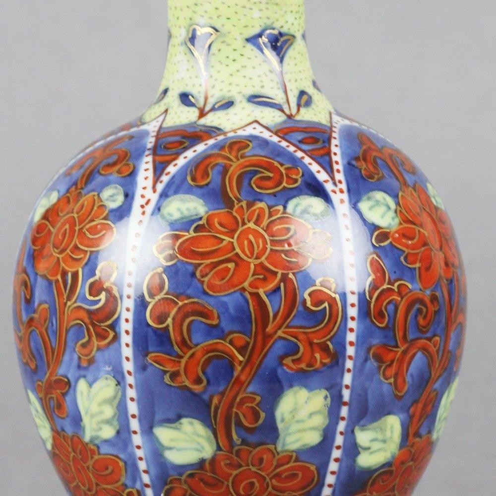 Stunning & Unusual Antique Chinese Clobbered Vase & Stand Kangxi 1662-1722