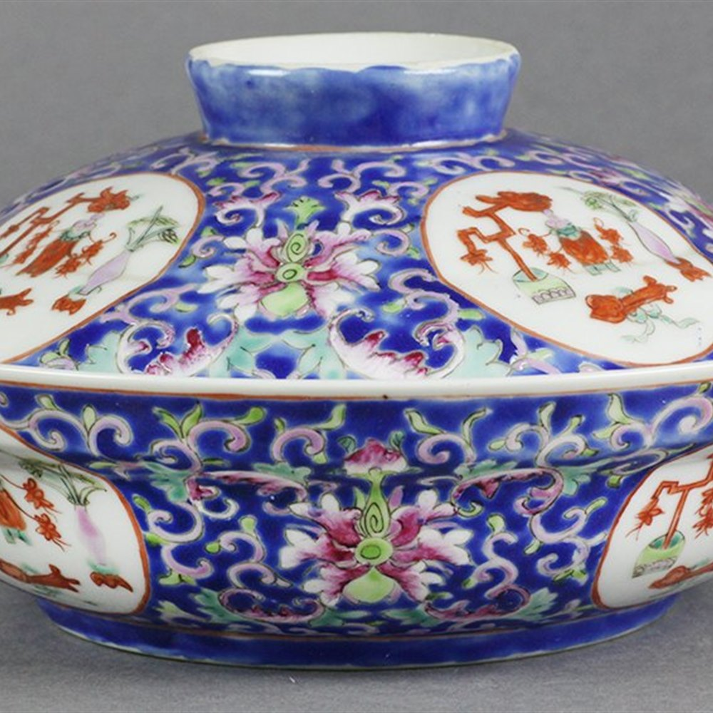 CHINESE QIANLONG BOWL Qianlong mark but believed early to mid 19th Century