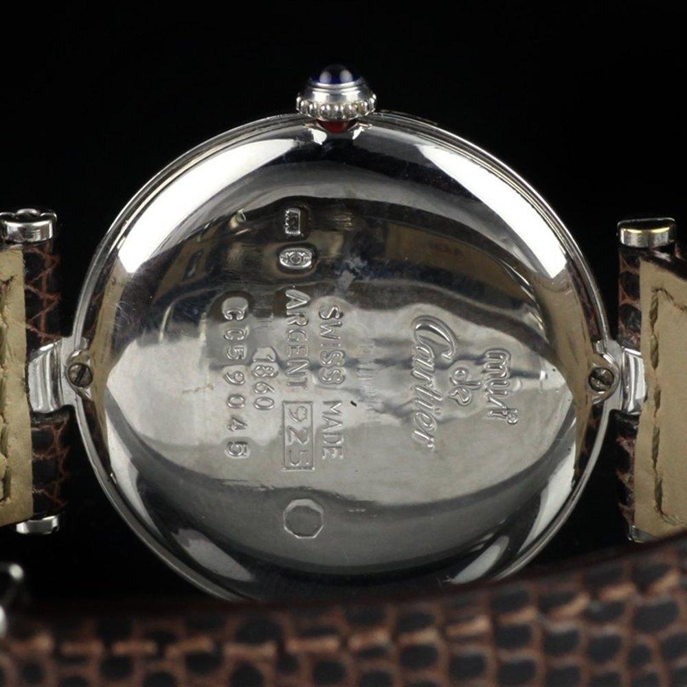 Cartier Must De Cartier 18k White Gold Plated