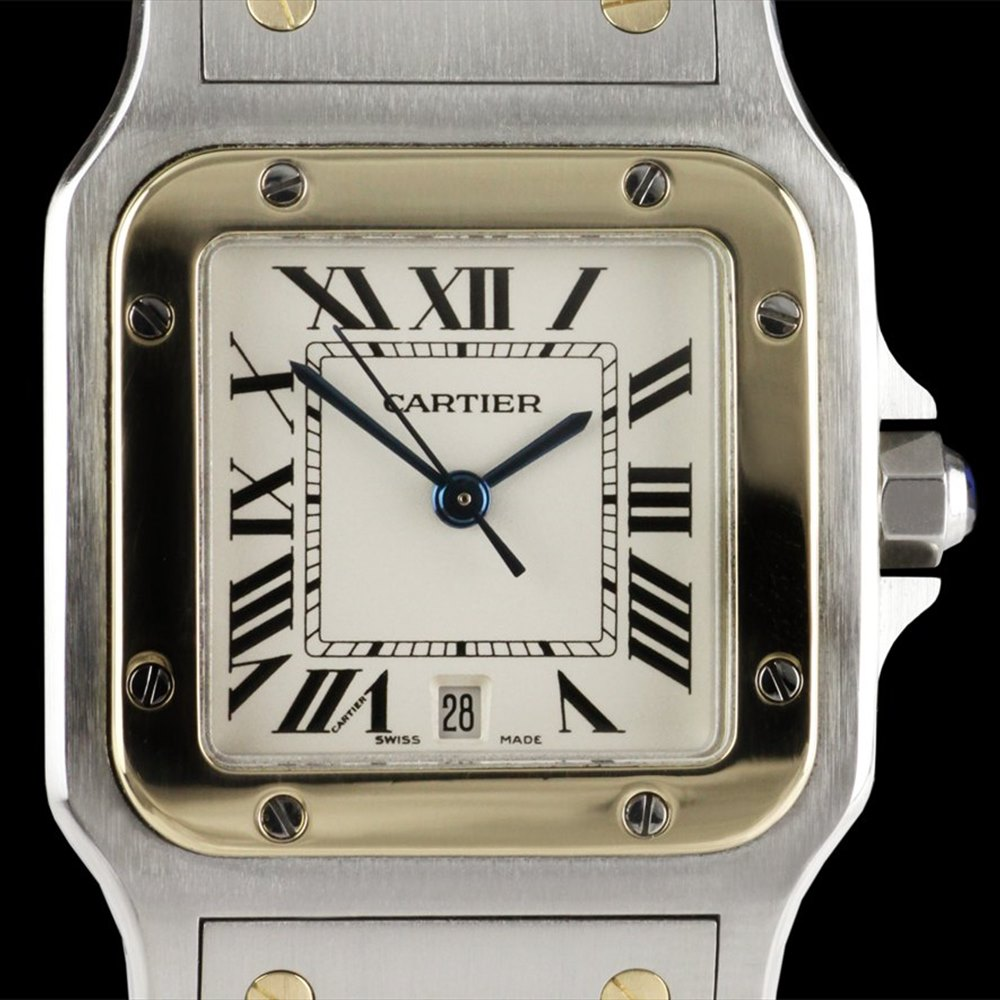 Cartier Santos Stainless Steel/18k Yellow Gold W20011C4
