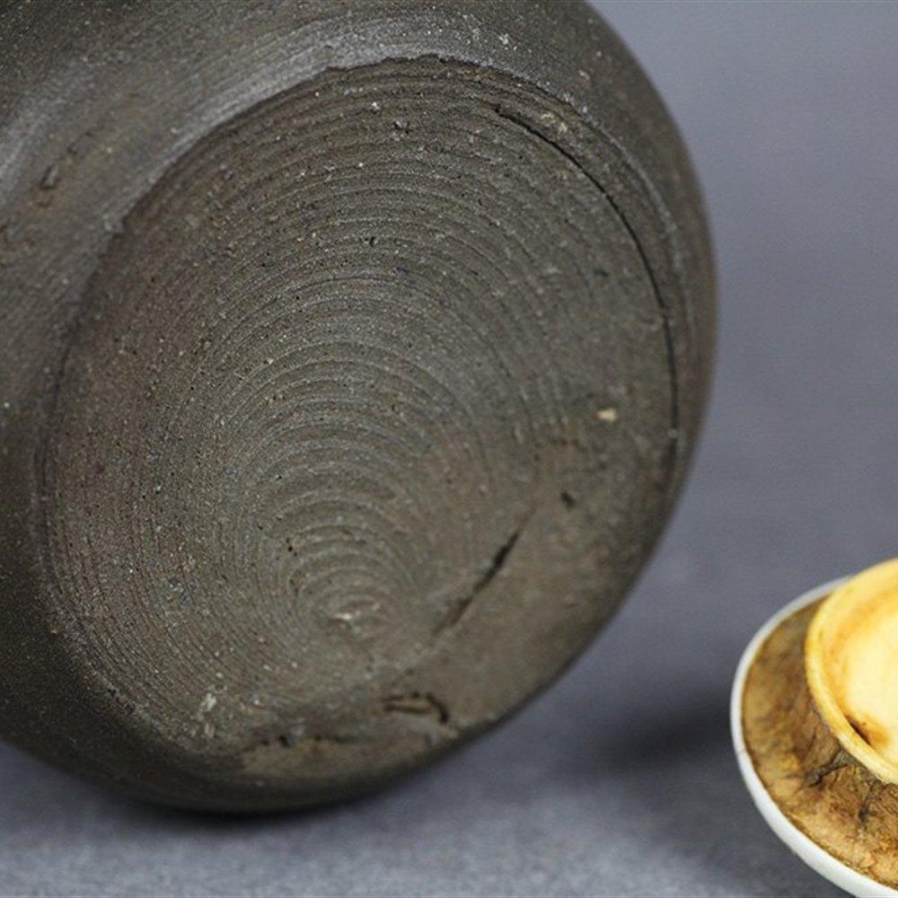 JAPANESE POTTERY TEA JAR 17/18th Century