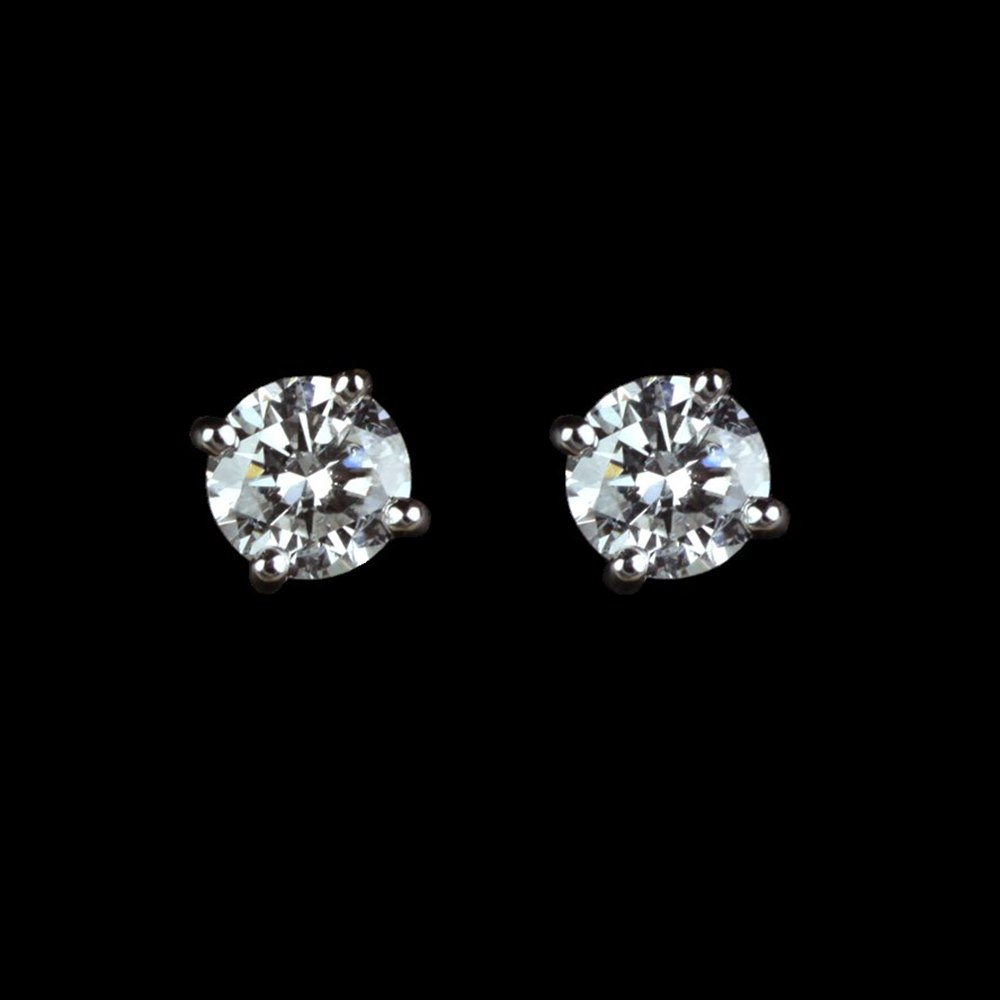 18k White Gold 18k White Gold Diamond Earrings
