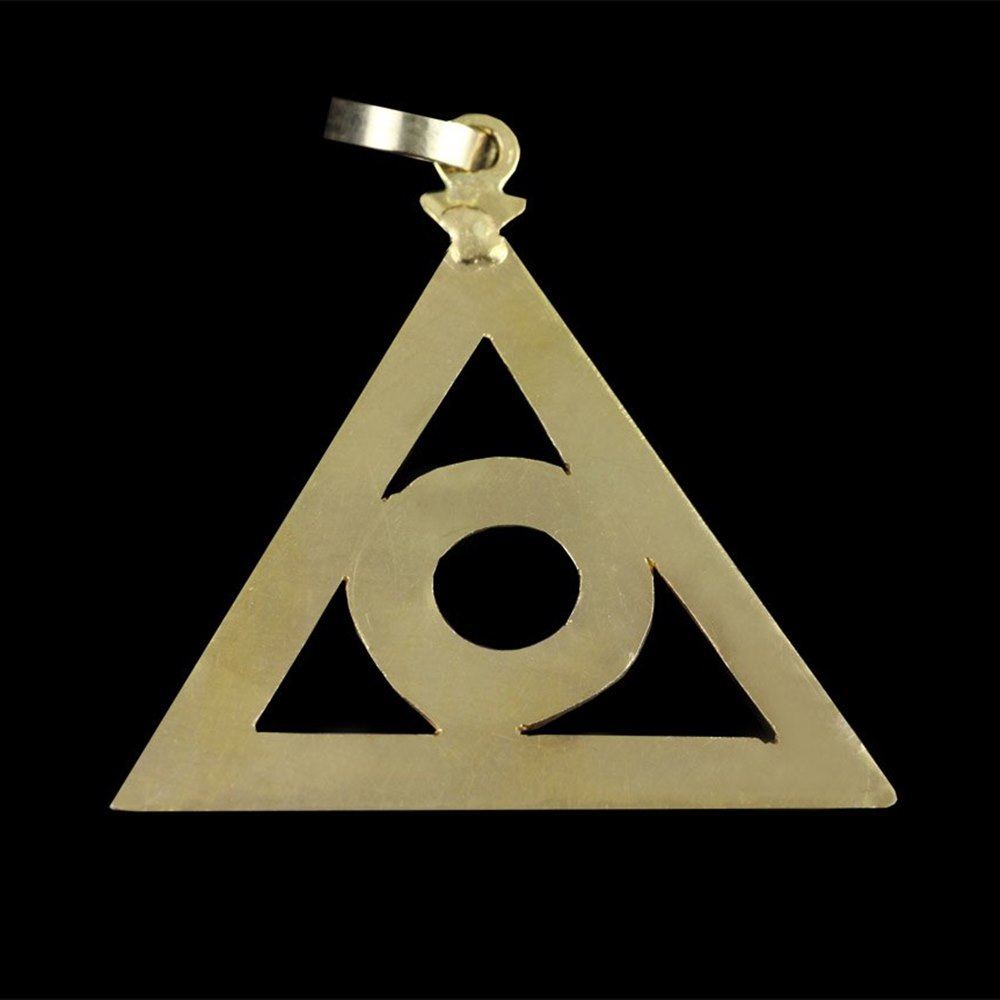 Yellow Gold Triangle pendant 1990's