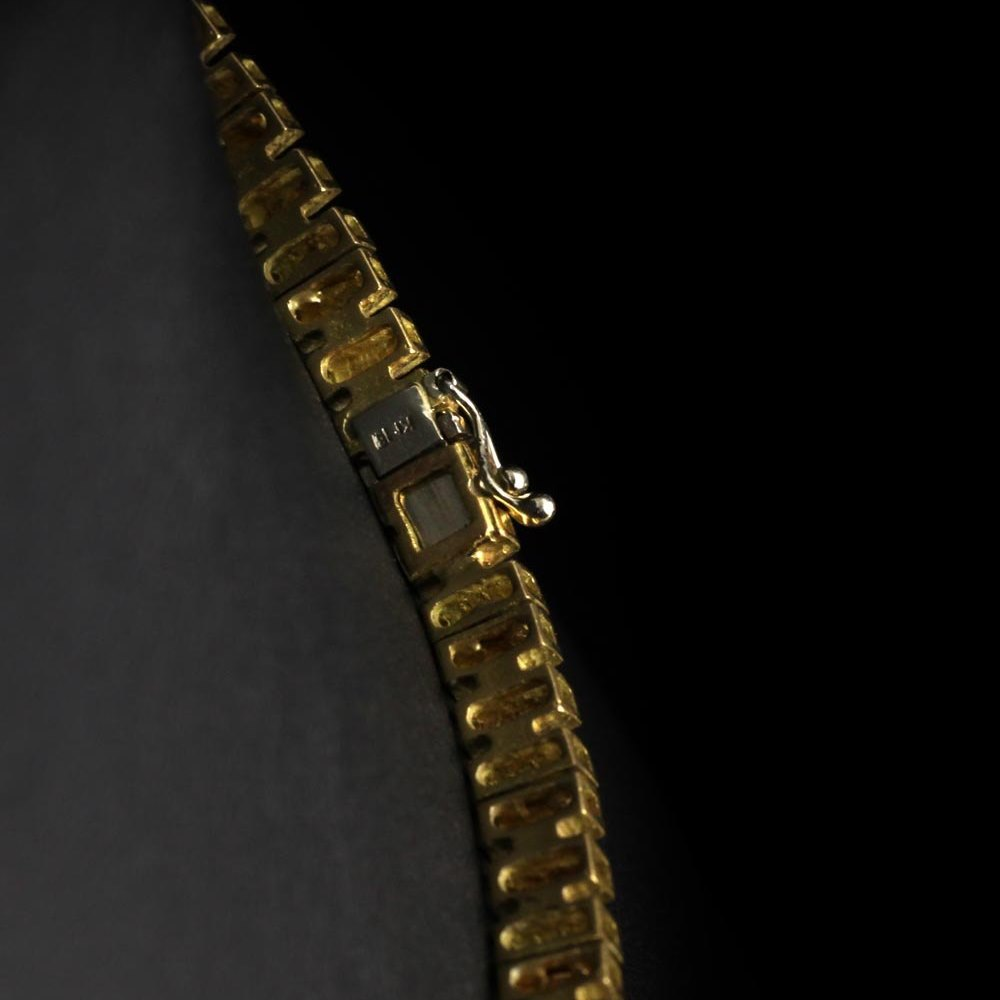 Yellow Gold & Diamond Necklace 1980's