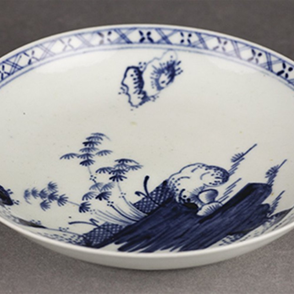 LIVERPOOL BLUE & WHITE SAUCER Circa 1765