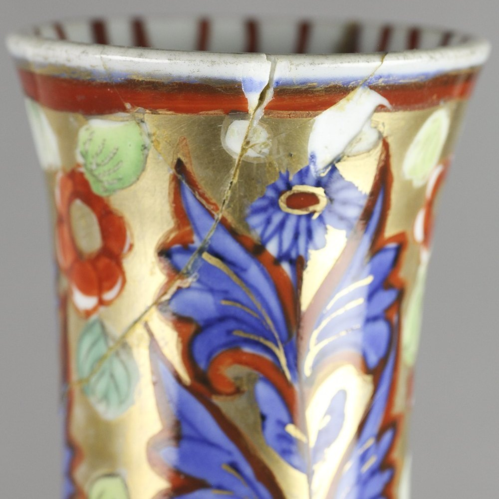 Rare Antique Chinese Transitional Ming Vase With Clobbered Decoration, c.1650