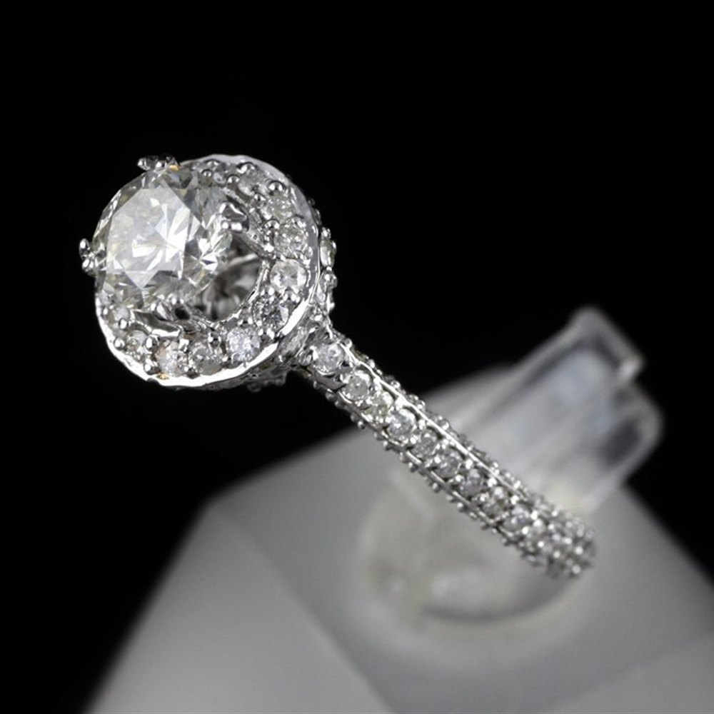18k White Gold 1.55cts Diamond Ring