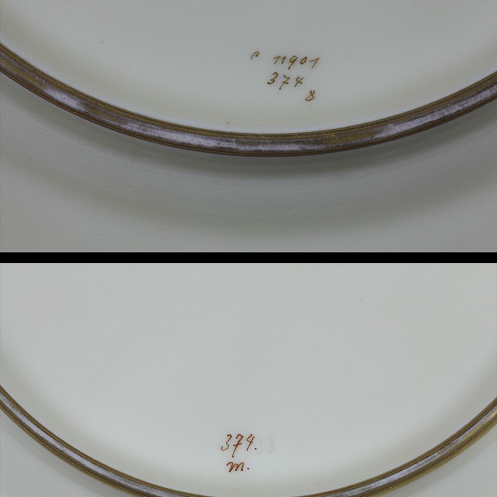HUTSCHENREUTHER FISH CABINET PLATES Believed to date from around 1922