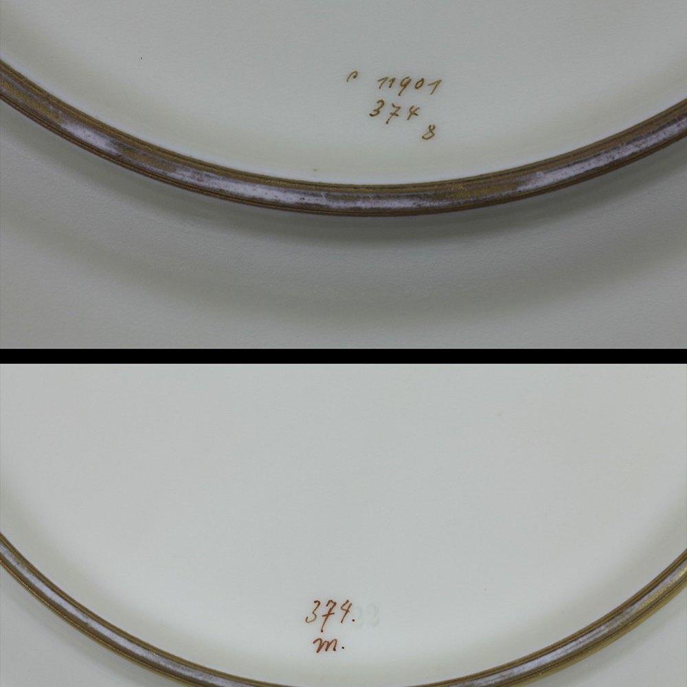Fine Pair Antique Bavarian Hutschenreuther Fish Cabinet Plates Signed c.1922
