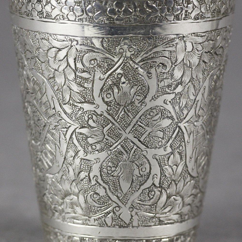 PERSIAN SILVER CUPS c.1910 Circa 1910
