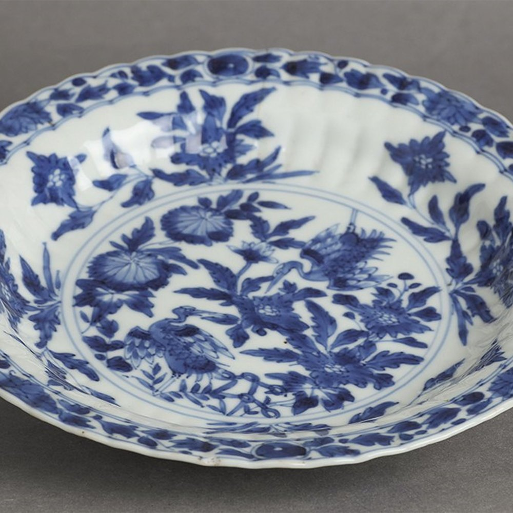 KANGXI RIBBED PLATE Dates from the Kangxi reign 1662-1722