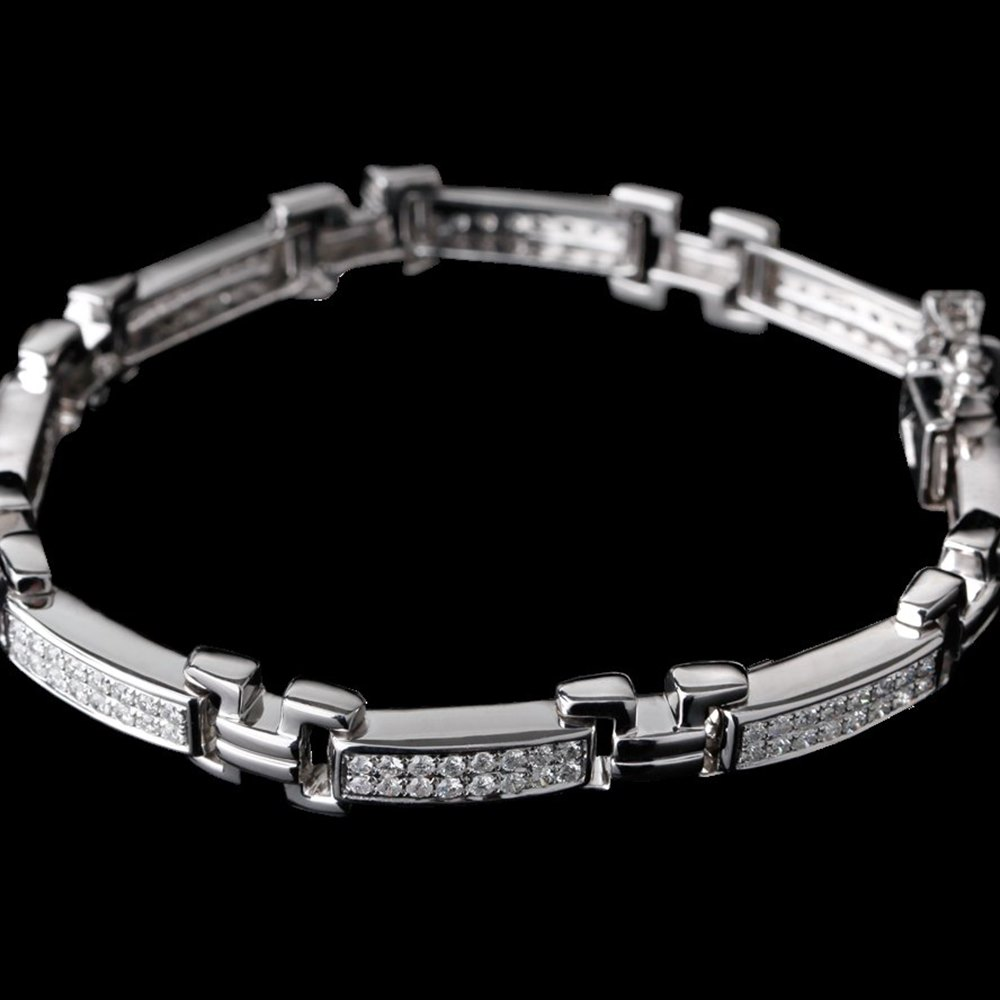 18k White Gold 5.04 cts Diamond Link Bracelet