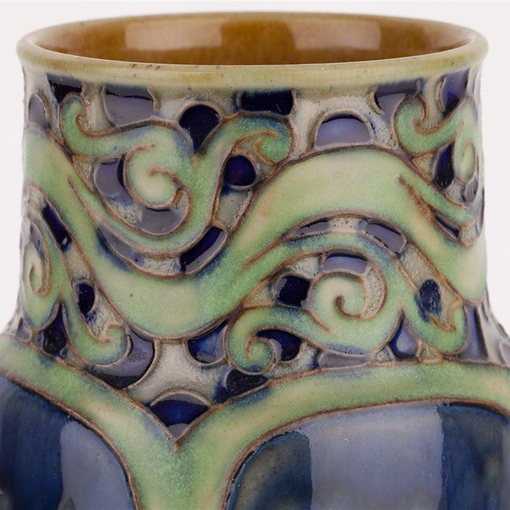 Stylish Art Nouveau Doulton Lambeth Vase By Bessie Newberry c.1910