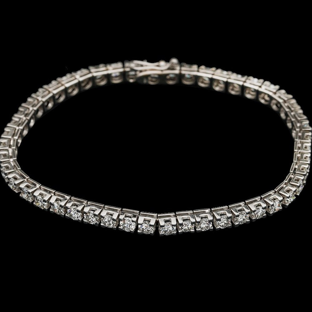 18k White Gold  18k White Gold 7.20cts VS1 Colour F-G Diamond Tennis Bracelet