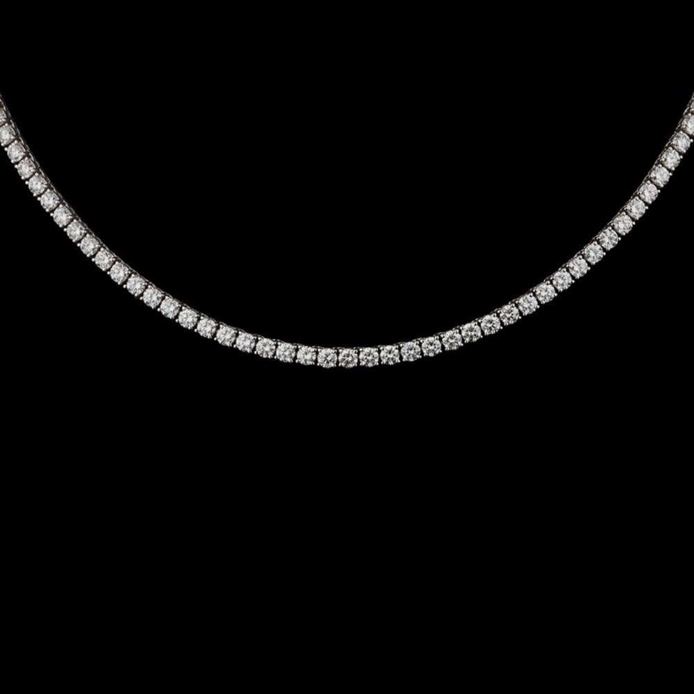 rhodium necklace plated cut tennis marquise cz pk marquisneck silver jewelry bling