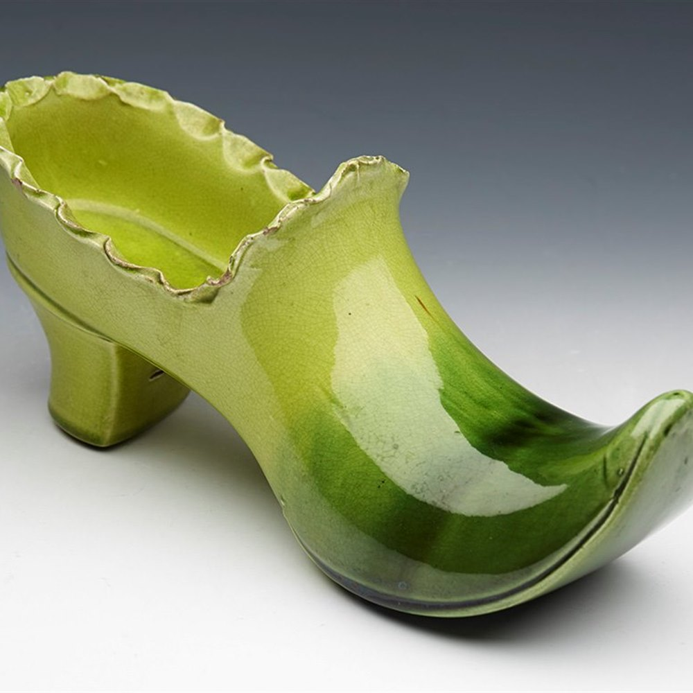 ENGLISH ART POTTERY SHOE 19th Century