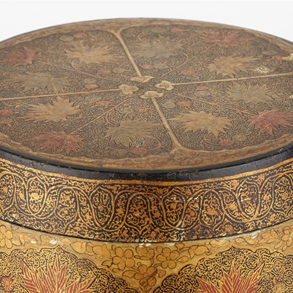 INDIAN PAPIERMACHE TEA CADDY Early 20th Century