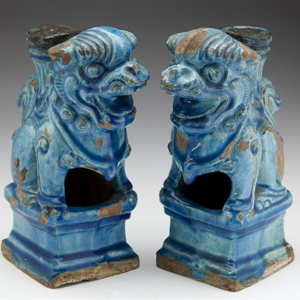 CHINESE LION DOGS Possibly Ming but believed no later than the 19th century