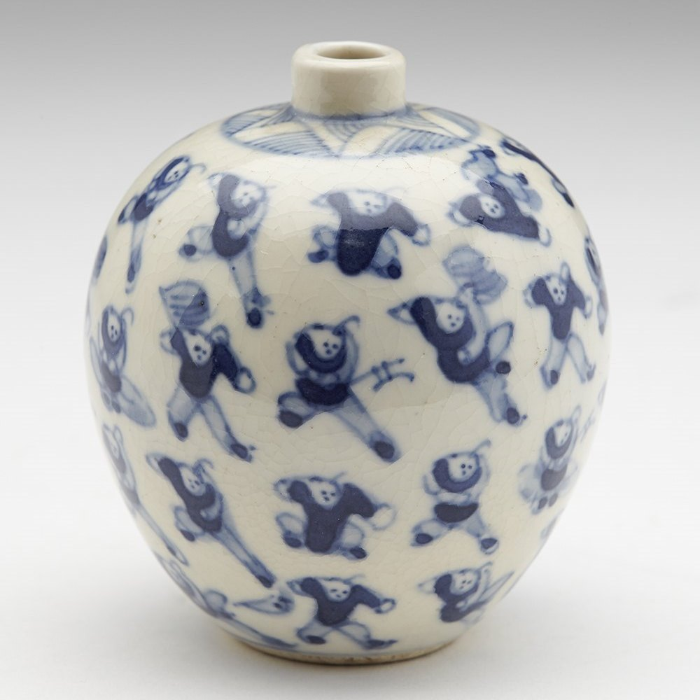 KANGXI MARK MINIATURE JAR Possibly 18th but more likely 19th century