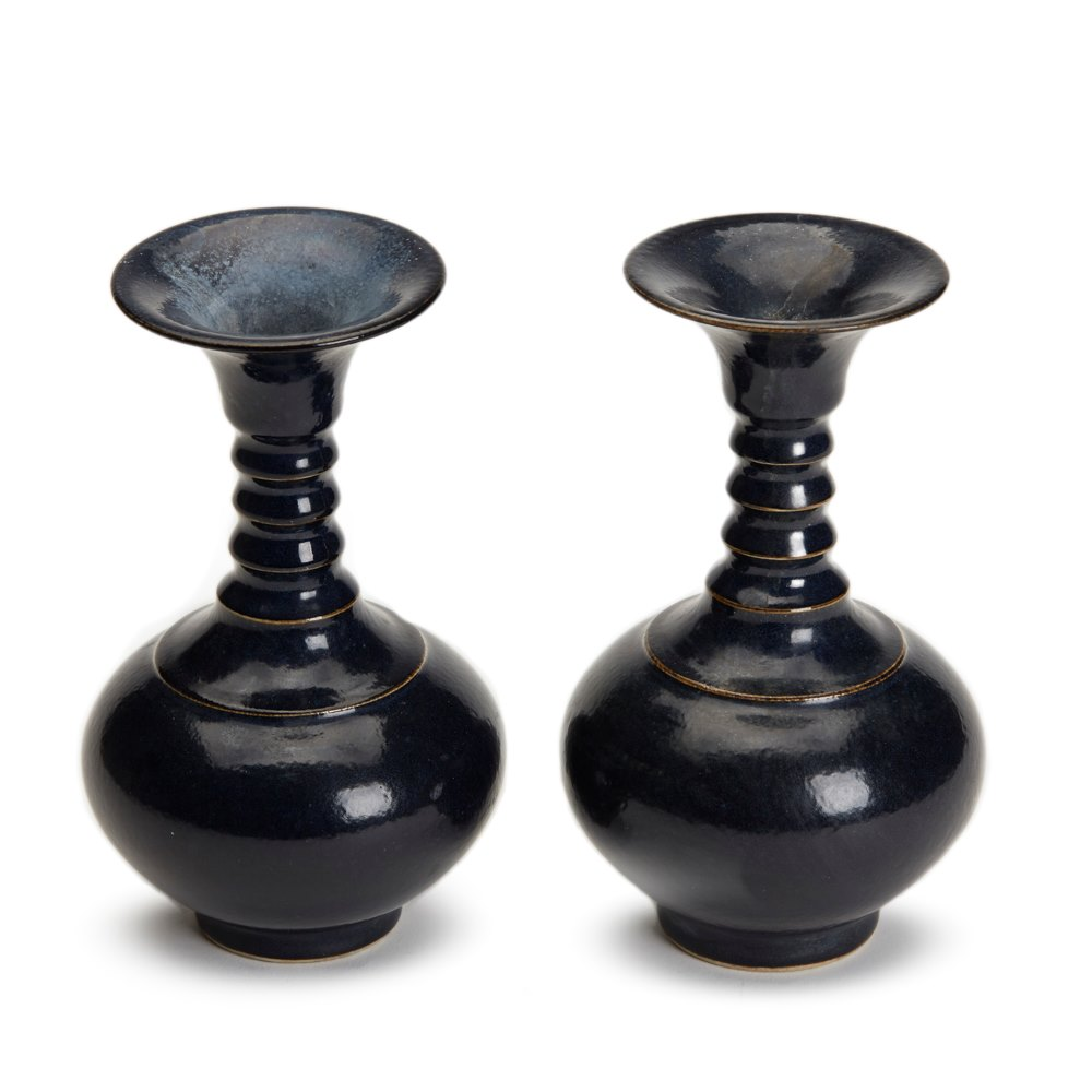 Chinese Collared Vases 19th C. Believed to date from the 19th century although could be earlier