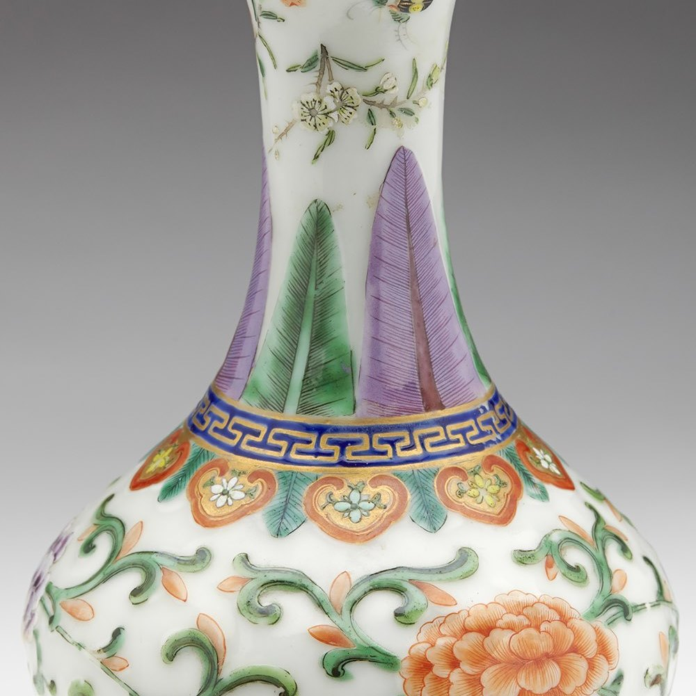 QING FAMILLE ROSE VASE Dates from the Qing Dynasty 19th century