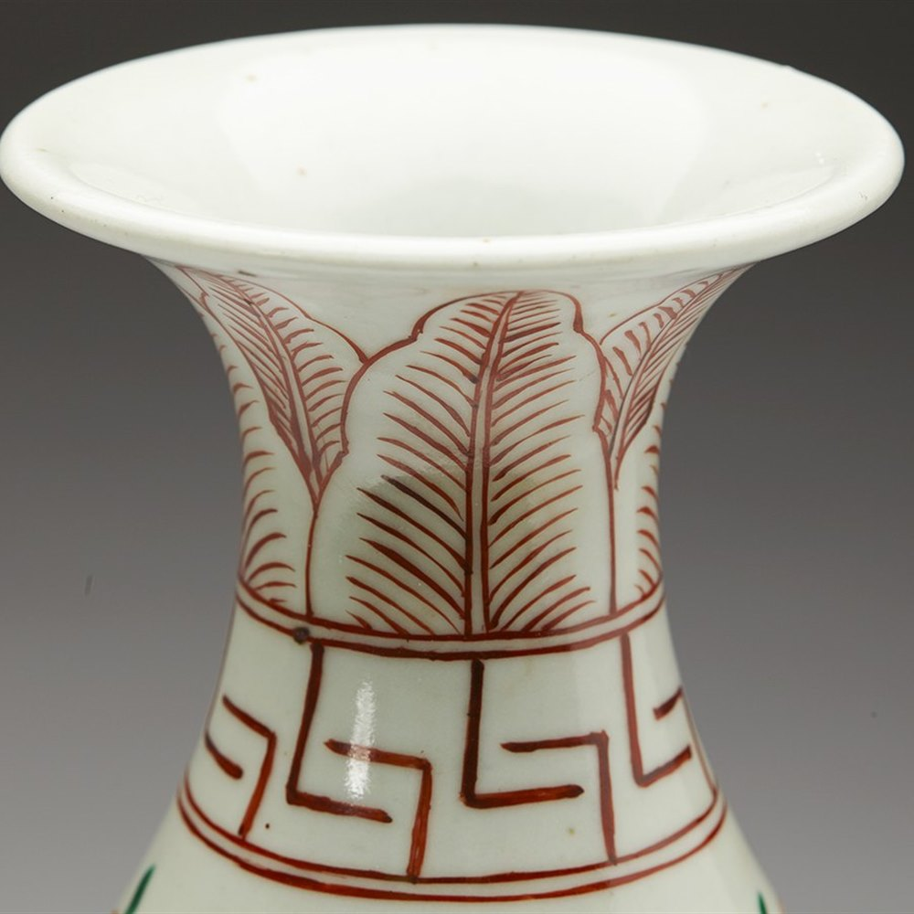 FAMILLE VERTE VASE 19/20TH C. Believed to date from the 19th or 20th century but possibly earlier