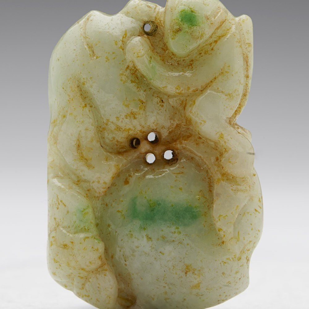 CHINESE CARVED JADE PENDANT Believed to date from 1900 or slightly later